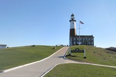 Montauk lighthouse Stock Images