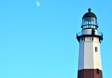 Montauk lighthouse on the Atlantic Ocean at the eastern tip of Long Island, NY Stock Images