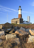 Montauk Lighthouse Boulders Vertical Stock Photos