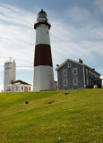 Montauk Lighthouse Grounds. The grounds of the Montauk Lighthouse. First lighthouse in New York State. Fourth oldest active lighthouse in the United States Stock Image