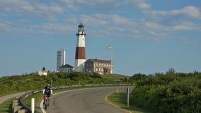Montauk Lighthouse in Long Island Stock Image