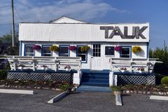 Editorial Tauk restaurant Montauk, New York. MONTAUK, NEW YORK-JUNE 8: TAUK restaurant, the new name of one of the oldest restaurants in Montauk, New York, The Royalty Free Stock Photography