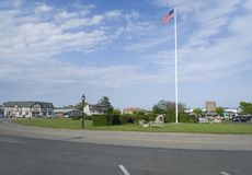 Editorial Montauk, New York village green. MONTAUK, NEW YORK-JUNE 8: The village Green is seen in downtown Montauk, New York, The Hamptons on June 8, 2018 Royalty Free Stock Images
