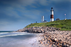 Montauk Point - The End Stock Photos