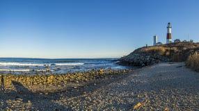 Montauk Point Light, Lighthouse, Long Island, New York, Suffolk Royalty Free Stock Images