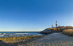 Montauk Point Light, Lighthouse, Long Island, New York, Suffolk stock images