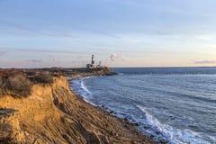 Montauk Point Light, Lighthouse, Long Island, New York, Suffolk stock photos