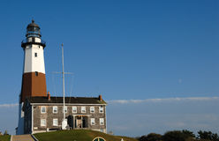 Montauk Point lighthouse Stock Photo