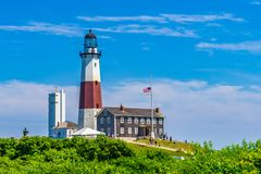 Montauk Point Lighthouse Long Island New York. US royalty free stock photos