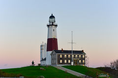 Montauk Point Lighthouse - New York. The Montauk Point Lighthouse located adjacent to Montauk Point State Park, at the easternmost point of Long Island, in the stock images