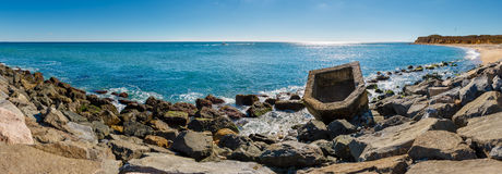 Montauk Point State Park beach, Long Island, NY Royalty Free Stock Images