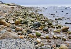 Montauk Rocky Beach royaltyfria bilder