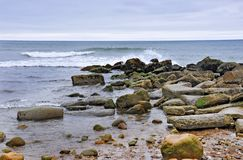 Montauk Rocky Beach New York royalty free stock photography