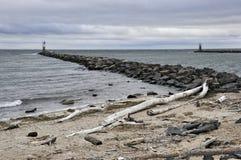 Montauk Rocky Beaches von New York lizenzfreies stockfoto