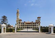 亚历山大埃及montaza宫殿 免版税库存照片