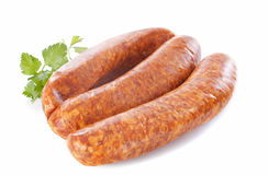 Montbeliard sausages Royalty Free Stock Photo