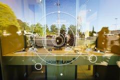 Montblanc εμπορικό σήμα πολυτέλειας Στοκ εικόνες με δικαίωμα ελεύθερης χρήσης