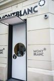 Montblanc εμπορικό σήμα πολυτέλειας Στοκ φωτογραφίες με δικαίωμα ελεύθερης χρήσης