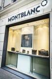 Montblanc εμπορικό σήμα πολυτέλειας Στοκ Φωτογραφίες