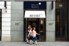 Montblanc boutique on Friedrichstrasse Stock Images