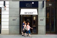 Montblanc butik na Friedrichstrasse Obrazy Stock