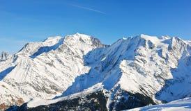 MontBlanc góra w Alps Obraz Royalty Free
