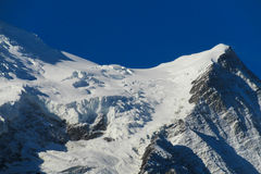 Montblanc glacier Royalty Free Stock Image