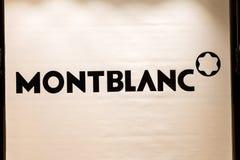 Montblanc logo on Montblanc shop stock photos