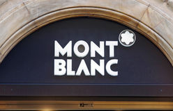 Montblanc luxury brand. Shop in Rome, Italy Stock Images
