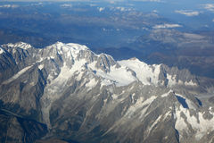 Montblanc Mont Blanc mountain top Alps mountains aerial view pho. Tography photo Royalty Free Stock Image
