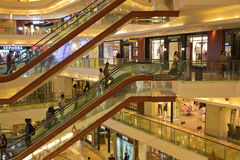 Montblanc Palladium Mall Mumbai. Palladium features an array of exclusive brands, making it one of Mumbai's iconic luxury shopping malls Royalty Free Stock Image