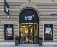 Montblanc-Shop lizenzfreie stockbilder