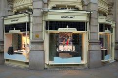 Montblanc sklep - Londyn Obraz Royalty Free