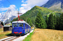 Montblanc tramwaj, Haute Savoy, Francja Zdjęcie Royalty Free