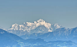 Montblanc view Royalty Free Stock Image