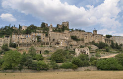 Montbrun. Les Bains village in Provence Stock Photos