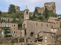 Montbrun. Les Bains village in Provence Stock Photo
