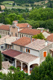 Montbrun les Bains village view in Provence, France. Summer landscape Stock Photography