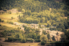 Montbrun les Bains village view in Provence, France. Summer landscape Royalty Free Stock Images