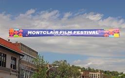 Montclair Ekranowego festiwalu sztandar Fotografia Royalty Free