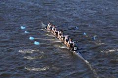 Montclair-Mannschaft läuft im Kopf von Charles Regatta Men-` s Jugend acht Lizenzfreie Stockbilder
