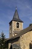 Montcorbau教会, Aran谷,莱里达省省,比利牛斯mou 图库摄影