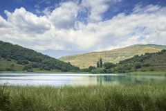 Montcortes lake Stock Images