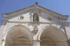 Monte圣`安吉洛:Sant米谢勒大教堂  免版税库存照片