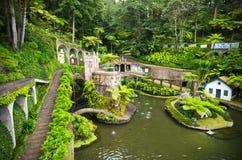 Monte宫殿热带庭院在丰沙尔,马德拉海岛 免版税库存图片