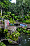 Monte宫殿热带庭院在丰沙尔(雅尔丁热带Monte宫殿),马德拉岛 库存图片