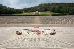 Monte的卡西诺-在Monte卡西诺争斗死从5月11日到19日波兰士兵的大墓地波兰战争公墓  免版税图库摄影