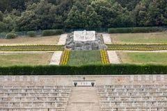 Monte的卡西诺-在Monte卡西诺争斗死波兰士兵的大墓地波兰战争公墓  库存图片