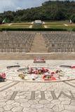 Monte的卡西诺-在Monte卡西诺争斗死波兰士兵的大墓地波兰战争公墓  图库摄影