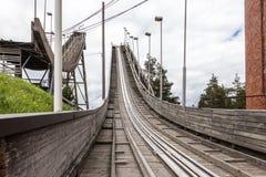 Monte abandonado do salto de esqui Foto de Stock Royalty Free